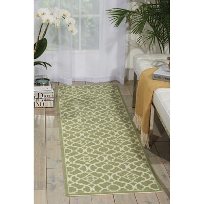 Sun and Shade Green Indoor/Outdoor Area Rug