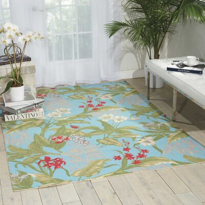 Sun n Shade Aqua Indoor/Outdoor Area Rug Rug Size: Rectangle 10 x 13