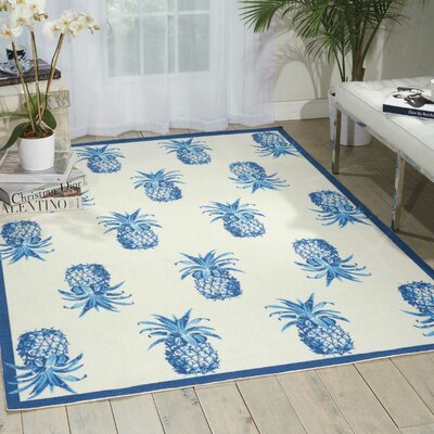 Sun n Shade Ivory Indoor/Outdoor Area Rug Rug Size: Rectangle 10 x 13