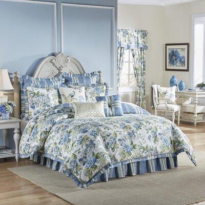 Floral Engagement 4 Piece Reversible Comforter Set Size: Queen