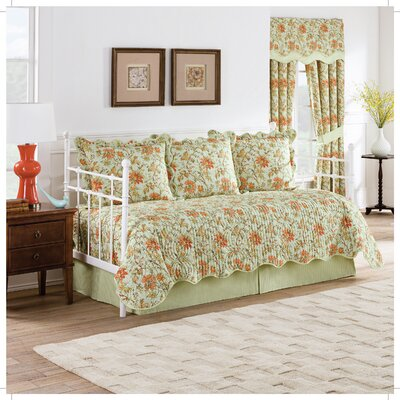 Felicite - Persimmon Reversible 5 Piece Quilt Daybed Collection