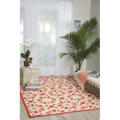 Sun n Shade Starry Eyed Red Indoor/Outdoor Area Rug Rug Size: 79 x 1010