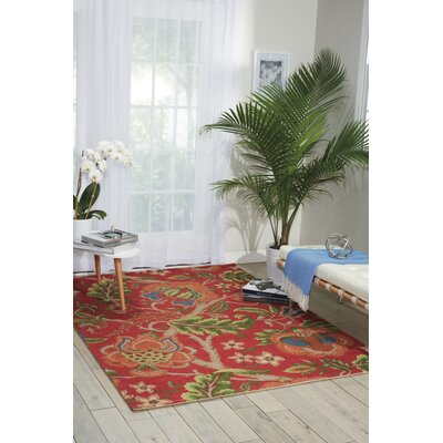 Global Awakening Imperial Dress Garnet Area Rug Rug Size: Rectangle 5 x 7