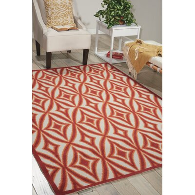 Sun n Shade Centro Red Indoor/Outdoor Area Rug Rug Size: Rectangle 44 x 611