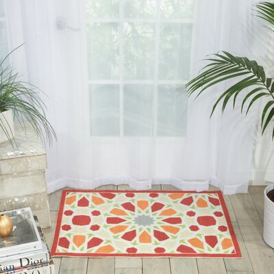 Sun n Shade Starry Eyed Red Indoor/Outdoor Area Rug Rug Size: Rectangle 2 x 3