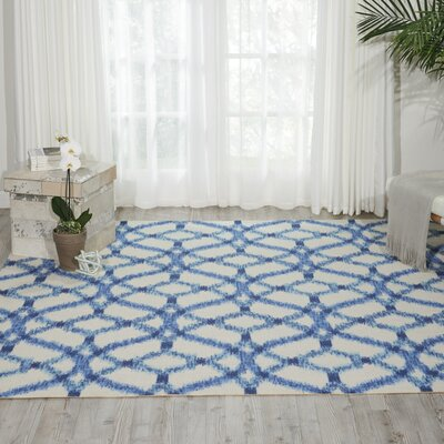 Sun n Shade Indoor/Outdoor Blue Area Rug Rug Size: 79 x 79