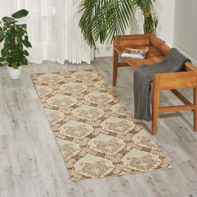 Treasures Dress Up Damask Birch Area Rug Rug Size: 5 x 7