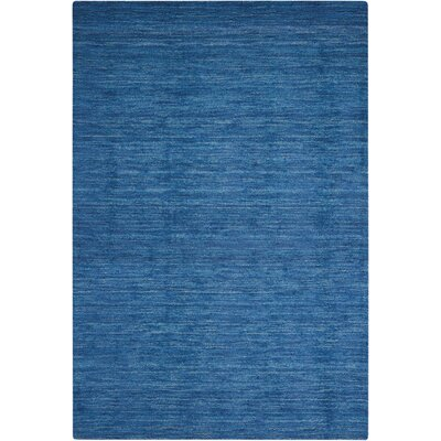 Grand Suite Ottoman Hand-Woven Blue Area Rug Rug Size: Rectangle 5 x 76