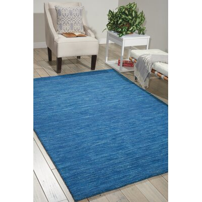Grand Suite Ottoman Hand-Woven Blue Area Rug Rug Size: 4 x 6