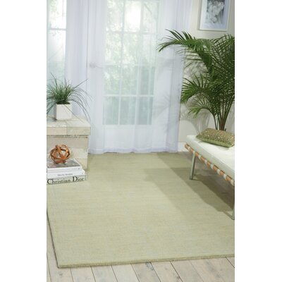 Grand Suite Ottoman Hand-Woven Mist Area Rug Rug Size: Rectangle 23 x 39