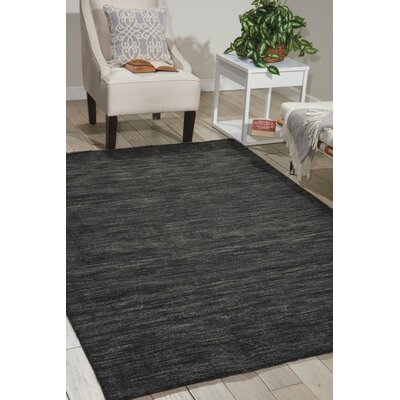 Grand Suite Ottoman Hand-Woven Charcoal Area Rug Rug Size: Rectangle 5 x 76