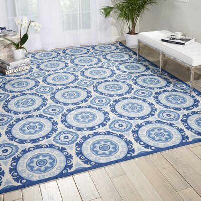 Sun n Shade Solar Flair Navy Indoor/Outdoor Area Rug Rug Size: Rectangle 79 x 1010