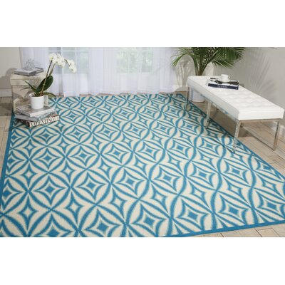 Sun n Shade Centro Azure Indoor/Outdoor Area Rug Rug Size: 53 x 75