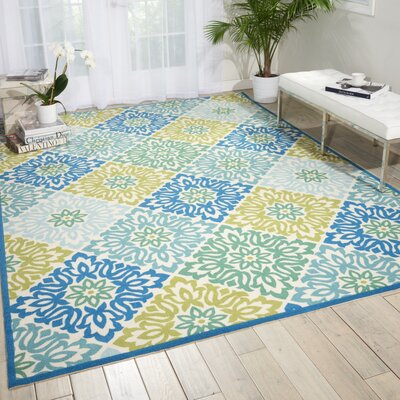 Sun n Shade Sweet Things Marine Indoor/Outdoor Area Rug Rug Size: Rectangle 53 x 75