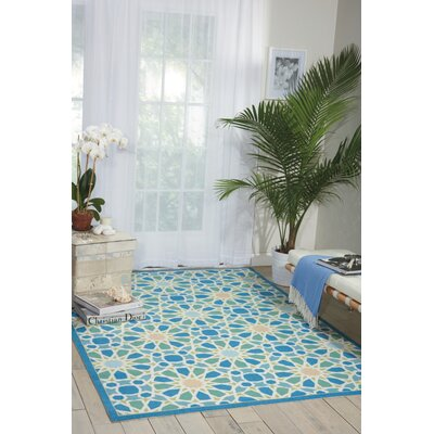 Sun n Shade Starry Eyed Blue Indoor/Outdoor Area Rug Rug Size: 79 x 1010