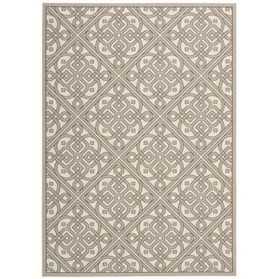 Sun n Shade Hand Tufted Stone Indoor/Outdoor Area Rug Rug Size: Rectangle 53 x 75