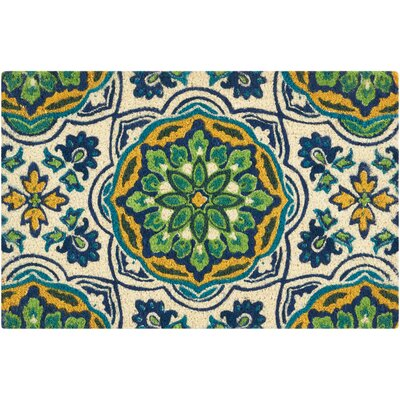 Greetings Doormat Rug Size: 16 x 24