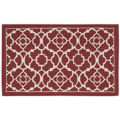 Art House Doormat Rug Size: 18 x 210, Color: Burgundy