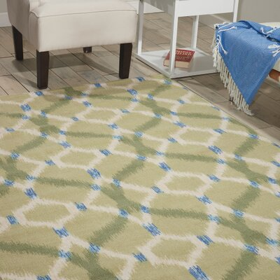 Sun n Shade Izmir Ikat Avocado Indoor/Outdoor Area Rug Rug Size: 53 x 75
