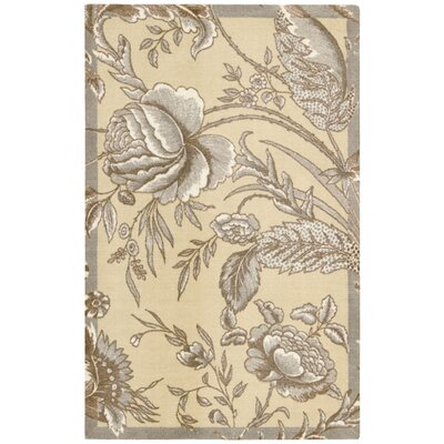 Artisinal Delight Fanciful Ironstone/Beige Area Rug Rug Size: Rectangle 26 x 4