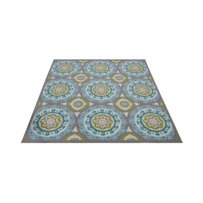 Sun n Shade Solar Flair Purple/Blue Indoor/Outdoor Area Rug Rug Size: Square 53 x 53