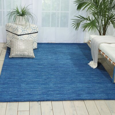 Grand Suite Ottoman Hand-Woven Blue Area Rug Rug Size: 23 x 39
