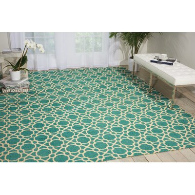 Color Motion Perfect Fit Hand-Woven Teal Area Rug Rug Size: 8 x 10