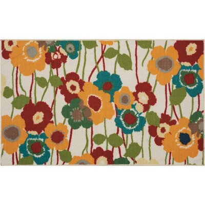 Fancy Free & Easy Pic-A-Poppy Beige/Brown/Orange Area Rug Rug Size: Rectangle 18 x 210