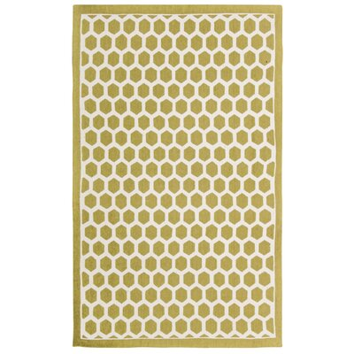 Art House Symmetry Moss Area Rug Rug Size: Rectangle 23 x 39