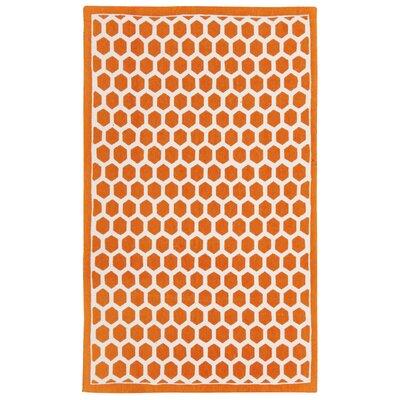 Art House Symmetry Orange Area Rug Rug Size: Rectangle 23 x 39