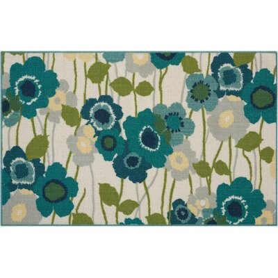 Fancy Free & Easy Pic-A-Poppy Blue/Beige Area Rug Rug Size: Rectangle 18 x 210
