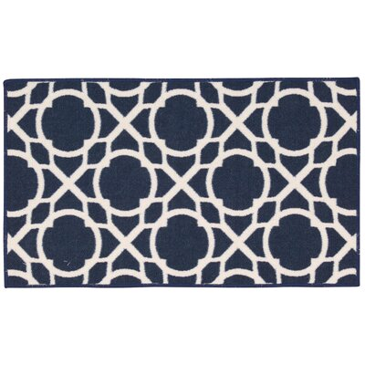 Fancy Free & Easy Centro Blue Area Rug Rug Size: Rectangle 18 x 210