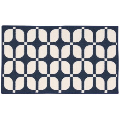 Fancy Free & Easy Unparalleled Navy Area Rug Rug Size: Rectangle 110 x 46