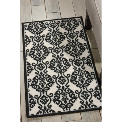 Fancy Free & Easy Luminary Black Area Rug Rug Size: Rectangle 26 x 4