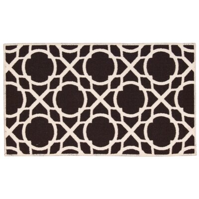 Fancy Free & Easy Luminary Brown Area Rug Rug Size: 110 x 46