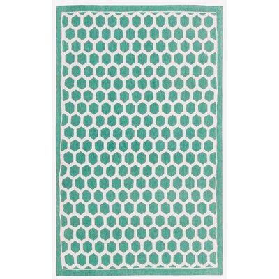 Art House Teal Area Rug Rug Size: 23 x 39