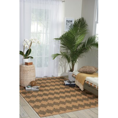 Color Motion Brushworks Brown/Gray Area Rug Rug Size: 5 x 7