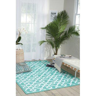 Art House Teal Area Rug Rug Size: Rectangle 23 x 39