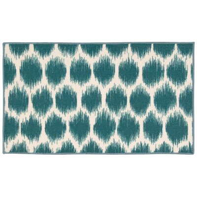Fancy Free & Easy Turquoise Area Rug Rug Size: Rectangle 110 x 46