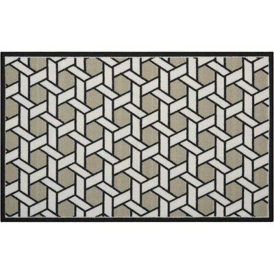 Fancy Free & Easy Shoji Black/Gray Area Rug Rug Size: Rectangle 110 x 46