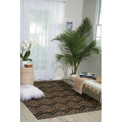 Color Motion Black Area Rug Rug Size: Rectangle 23 x 39