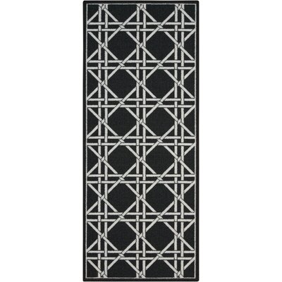 Fancy Free & Easy Garden Lattice Charcoal Area Rug Rug Size: 26 x 4