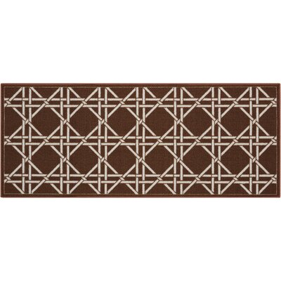 Fancy Free & Easy Garden Lattice Brown Area Rug Rug Size: 110 x 46