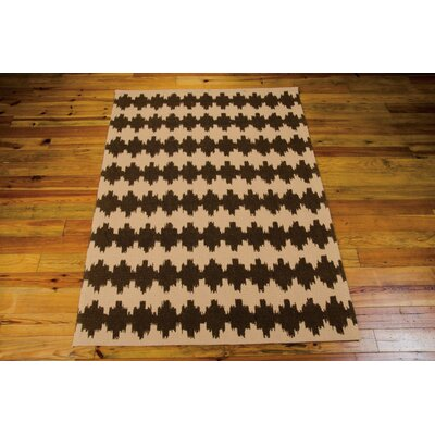 Color Motion Brushworks Black/Brown Area Rug Rug Size: 5 x 7