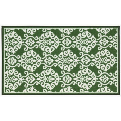 Fancy Free & Easy Luminary Emerald Area Rug Rug Size: 110 x 46