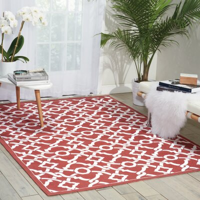 Art House Artistic Twist Red Area Rug Rug Size: 5 x 7
