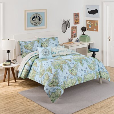 Buon Viaggio 3 Piece Reversible Comforter Set Size: Full/Queen