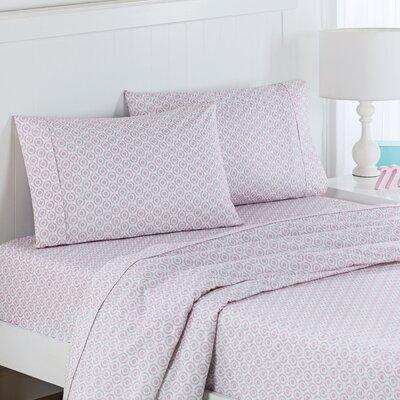 Chantal Polyester Sheet Set Size: Full, Color: Pink