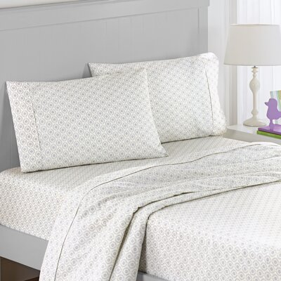 Chantal Polyester Sheet Set Size: Twin, Color: Gray