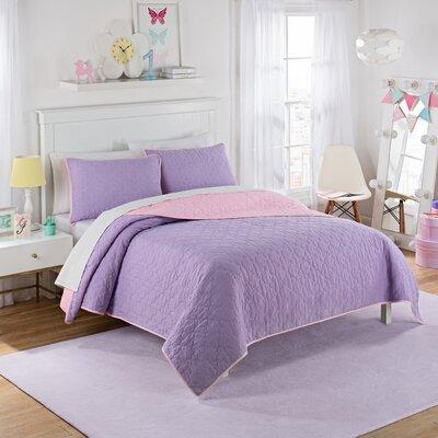 Framework 3 Piece Reversible Quilt Set Size: Full, Color: Purple